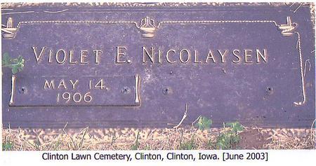 NICOLAYSEN, VIOLET E. - Clinton County, Iowa | VIOLET E. NICOLAYSEN