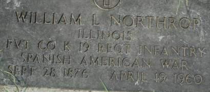NORTHROP, WILLIAM L. - Clinton County, Iowa | WILLIAM L. NORTHROP