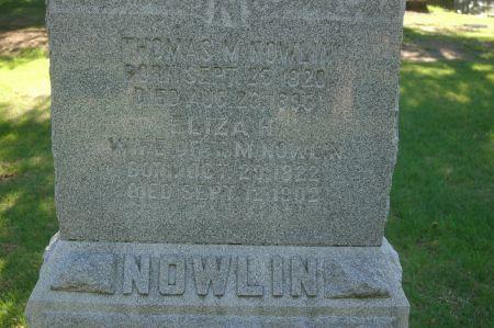 NOWLIN, THOMAS M. - Clinton County, Iowa   THOMAS M. NOWLIN