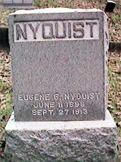 NYQUIST, EUGENE G - Clinton County, Iowa   EUGENE G NYQUIST