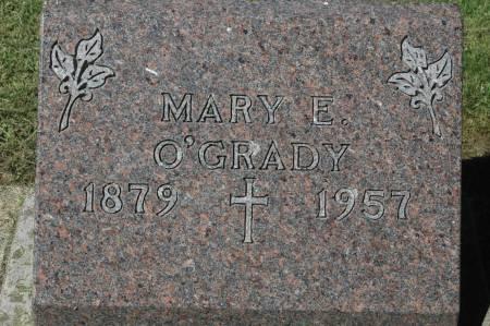 O'GRADY, MARY E. - Clinton County, Iowa   MARY E. O'GRADY