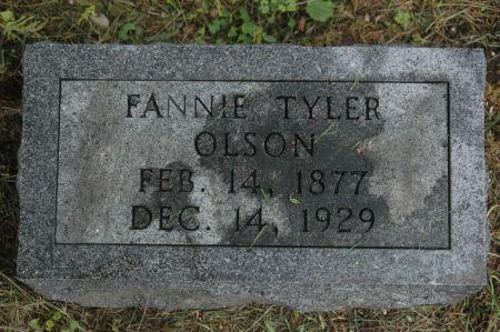TYLER OLSON, FANNIE - Clinton County, Iowa | FANNIE TYLER OLSON