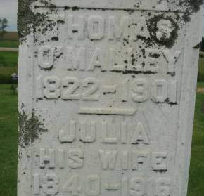 O'MALLEY, JULIA - Clinton County, Iowa | JULIA O'MALLEY