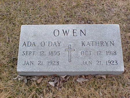 OWEN, ADA O'DAY & KATHRYN - Clinton County, Iowa | ADA O'DAY & KATHRYN OWEN