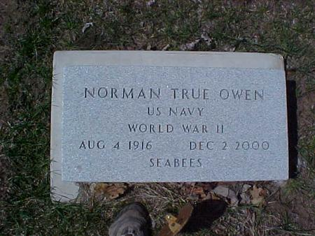 OWEN, NORMAN TRUE - Clinton County, Iowa   NORMAN TRUE OWEN
