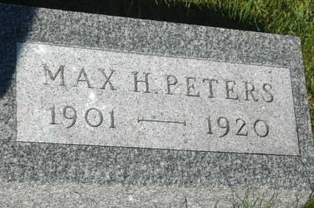 PETERS, MAX H. - Clinton County, Iowa   MAX H. PETERS
