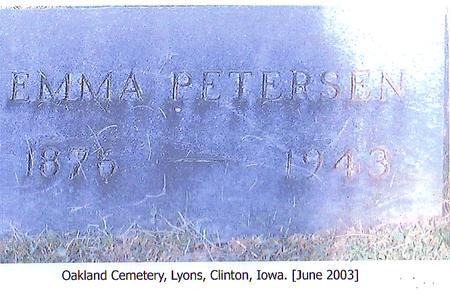 PETERSEN, EMMA - Clinton County, Iowa | EMMA PETERSEN