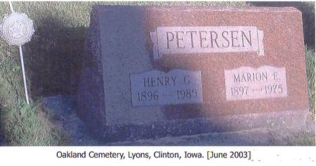 PETERSEN, HENRY G. - Clinton County, Iowa | HENRY G. PETERSEN