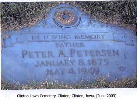 PETERSEN, PETER A. - Clinton County, Iowa | PETER A. PETERSEN