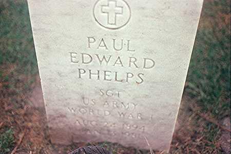 PHELPS, PAUL EDWARD - Clinton County, Iowa   PAUL EDWARD PHELPS