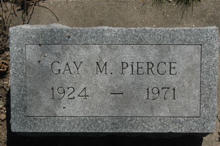PIERCE, GAY M. - Clinton County, Iowa | GAY M. PIERCE