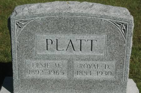 PLATT, ROYAL D. - Clinton County, Iowa | ROYAL D. PLATT