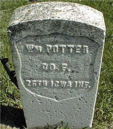 POTTER, WILLIAM - Clinton County, Iowa | WILLIAM POTTER
