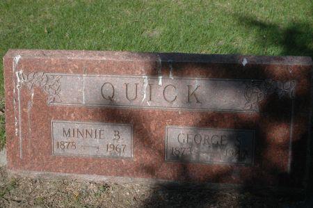 QUICK, MINNIE B. - Clinton County, Iowa   MINNIE B. QUICK