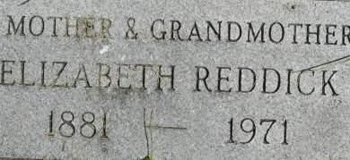 REDDICK, ELIZABETH - Clinton County, Iowa   ELIZABETH REDDICK