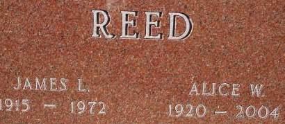 REED, ALICE W. - Clinton County, Iowa | ALICE W. REED