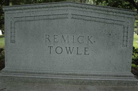 REMICK-TOWLE, MONUMENT - Clinton County, Iowa | MONUMENT REMICK-TOWLE