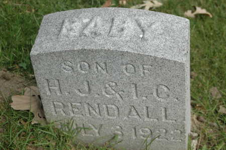 RENDALL, BABY - Clinton County, Iowa | BABY RENDALL