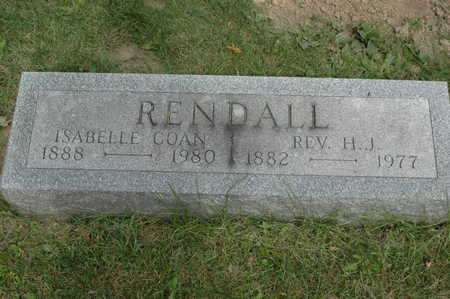 COAN RENDALL, ISABELLE WELLS - Clinton County, Iowa | ISABELLE WELLS COAN RENDALL