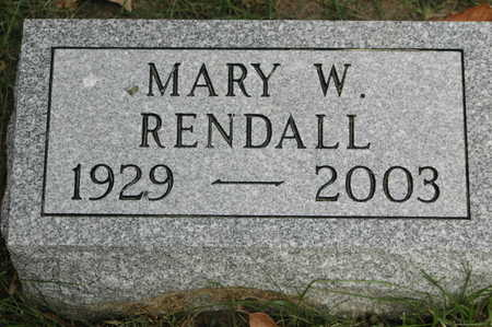 RENDALL, MARY WELLS - Clinton County, Iowa | MARY WELLS RENDALL