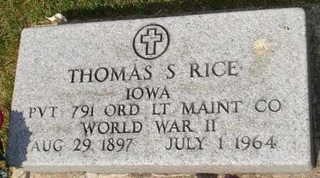 RICE, THOMAS S. - Clinton County, Iowa | THOMAS S. RICE