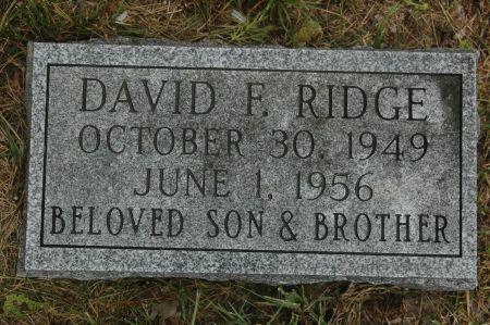 RIDGE, DAVID F. - Clinton County, Iowa   DAVID F. RIDGE