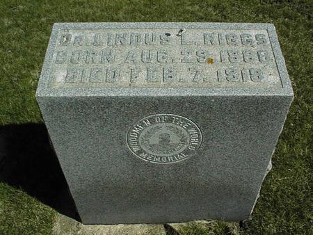 RIGGS, DR. LINOUS L. - Clinton County, Iowa   DR. LINOUS L. RIGGS