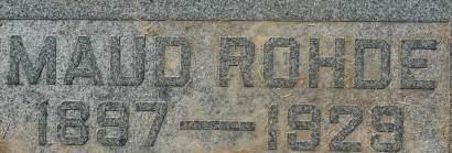 ROHDE, MAUD - Clinton County, Iowa | MAUD ROHDE