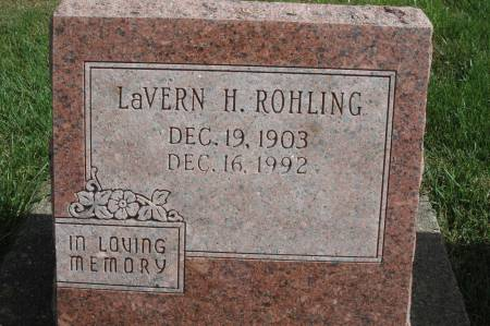ROHLING, LAVERN H. - Clinton County, Iowa   LAVERN H. ROHLING