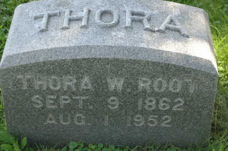 ROOT, THORA W. - Clinton County, Iowa   THORA W. ROOT