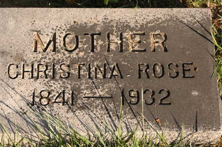 ROSE, CHRISTINA - Clinton County, Iowa | CHRISTINA ROSE