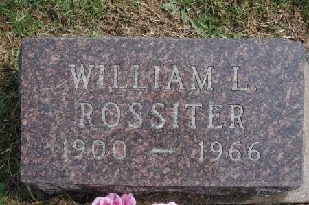 ROSSITER, WILLIAM L. - Clinton County, Iowa   WILLIAM L. ROSSITER