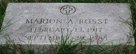 ROSST, MARION - Clinton County, Iowa | MARION ROSST