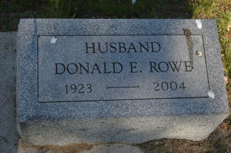 ROWE, DONALD E. - Clinton County, Iowa   DONALD E. ROWE
