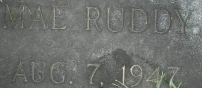 RUDDY, MAE - Clinton County, Iowa | MAE RUDDY