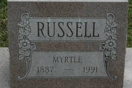 RUSSELL, MYRTLE - Clinton County, Iowa   MYRTLE RUSSELL