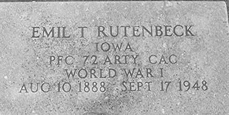 RUTENBECK, EMIL T. - Clinton County, Iowa | EMIL T. RUTENBECK
