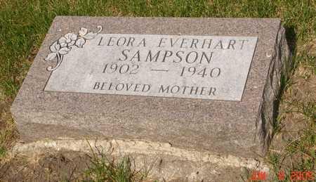 EVERHART SAMPSON, LEORA - Clinton County, Iowa | LEORA EVERHART SAMPSON
