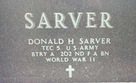 SARVER, DONALD H. - Clinton County, Iowa | DONALD H. SARVER
