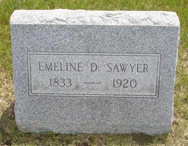 SAWYER, EMELINE D. - Clinton County, Iowa | EMELINE D. SAWYER