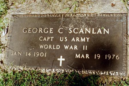 SCANLAN, GEORGE  CYRIL - Clinton County, Iowa | GEORGE  CYRIL SCANLAN