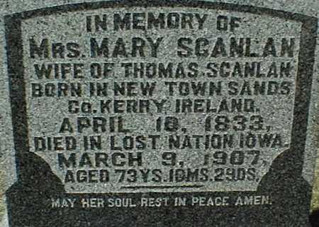 SCANLAN, MARY - Clinton County, Iowa | MARY SCANLAN