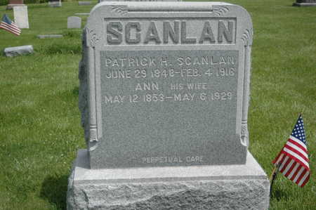 SCANLAN, PATRICK H. - Clinton County, Iowa | PATRICK H. SCANLAN