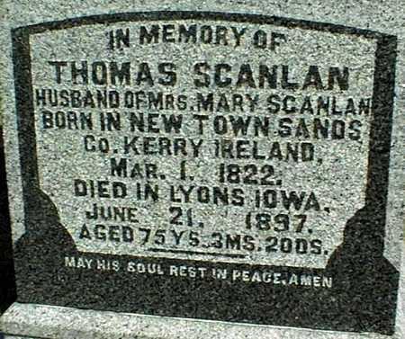 SCANLAN, THOMAS - Clinton County, Iowa   THOMAS SCANLAN