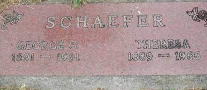 SCHAEFER, GEORGE G. - Clinton County, Iowa | GEORGE G. SCHAEFER