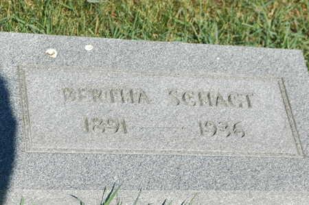 SCHAGT, BERTHA - Clinton County, Iowa | BERTHA SCHAGT