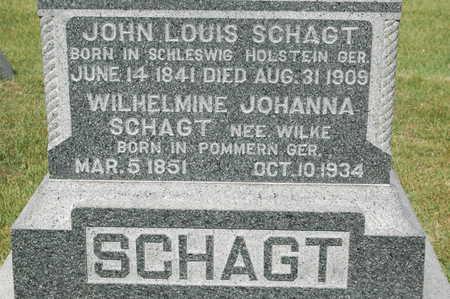 SCHAGT, WILHELMINE JOHANNA - Clinton County, Iowa | WILHELMINE JOHANNA SCHAGT