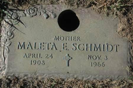 SCHMIDT, MALETA E. - Clinton County, Iowa | MALETA E. SCHMIDT