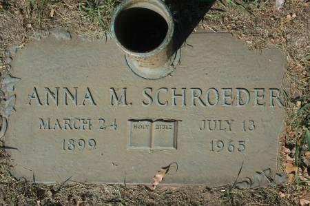 SCHROEDER, ANNA M. - Clinton County, Iowa | ANNA M. SCHROEDER