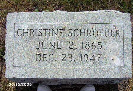 SCHROEDER, CHRISTINE - Clinton County, Iowa | CHRISTINE SCHROEDER
